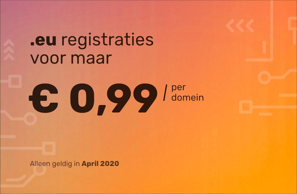 Actie! .eu registratie nu voor slechts € 0,99!