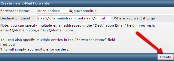 Create forwarder